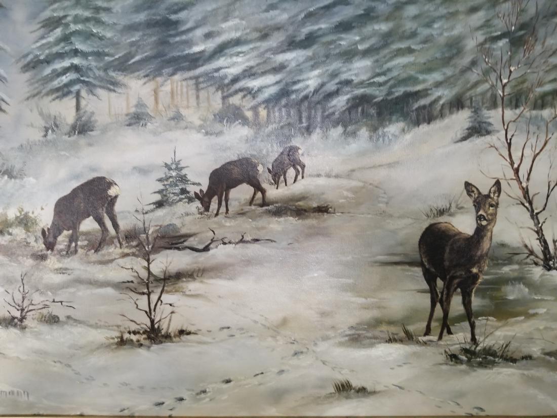 Adalbert Hoffmann Painting On Canvas - 2