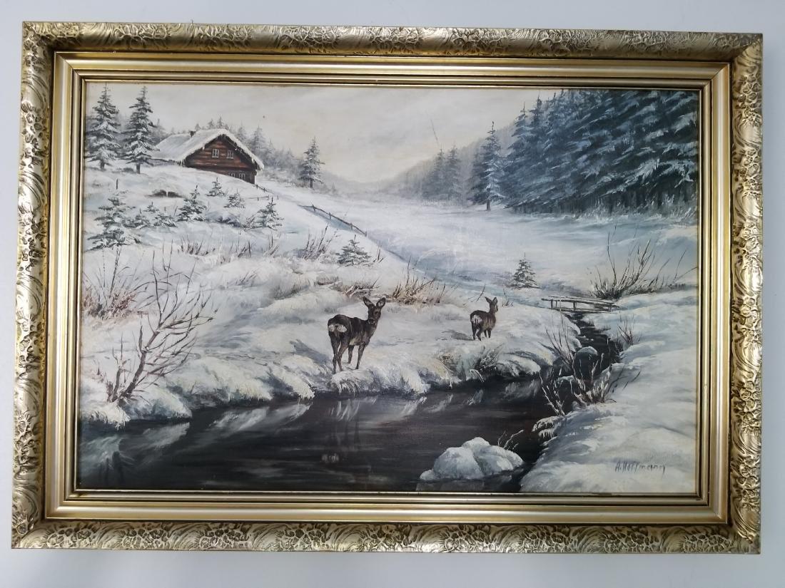 Adalbert Hoffmann Painting On Canvas