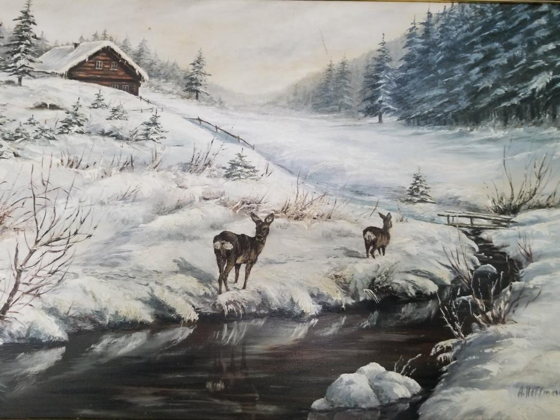 Adalbert Hoffmann Painting On Canvas - 3