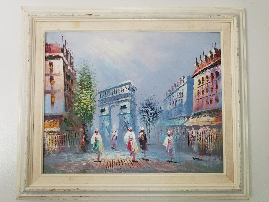 "Vintage Painting "" Arch of Triumph"" France Signed"
