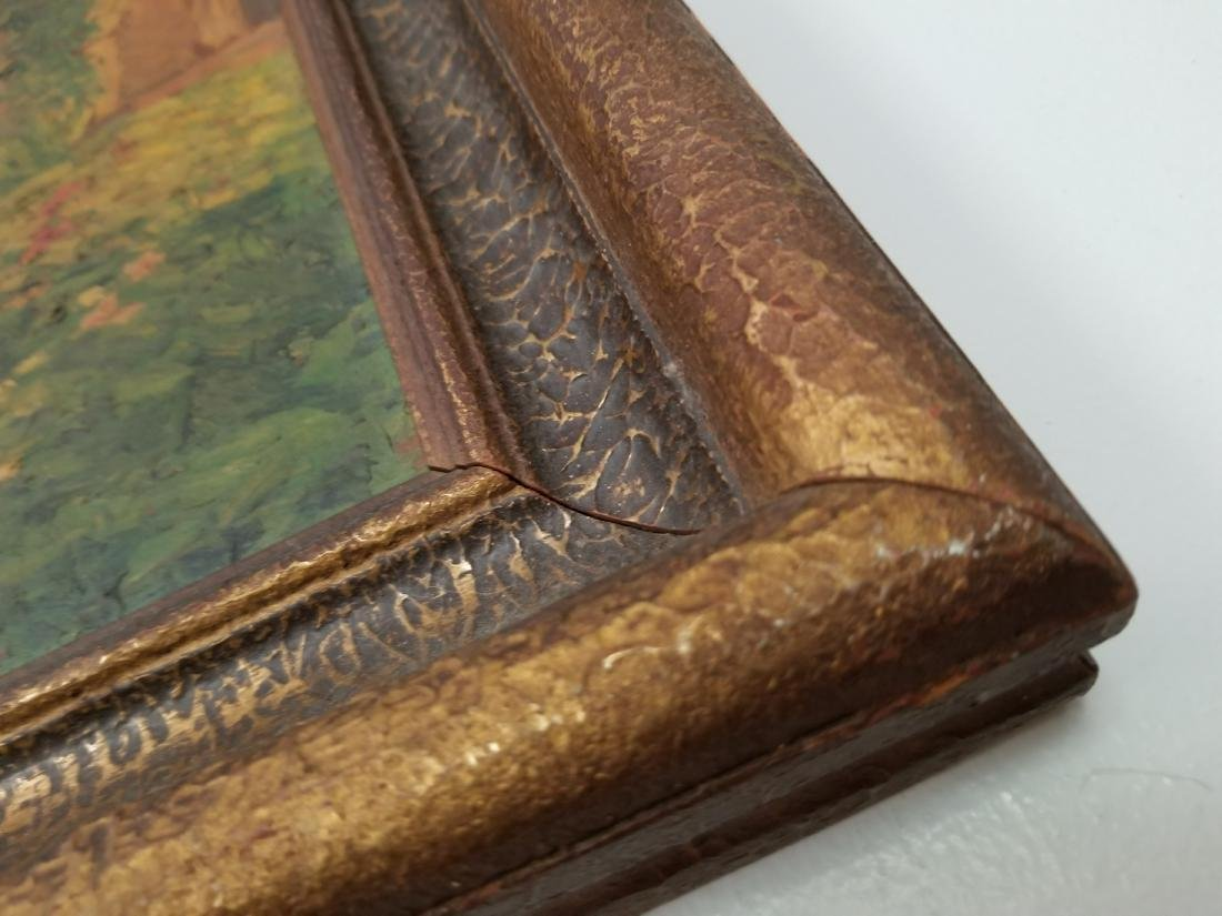 Original Vintage painitng On Cardboard - 4