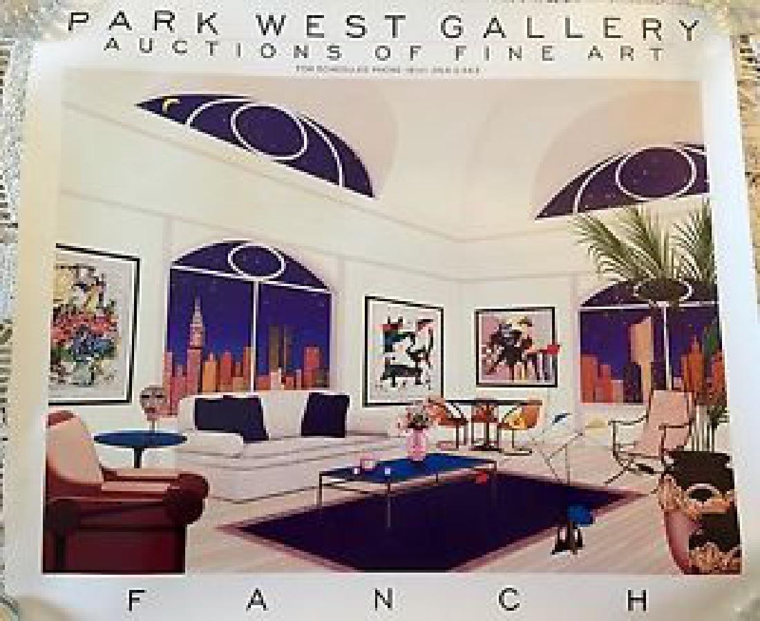 Fanch Ledan Vintage Gallery Advertising Poster