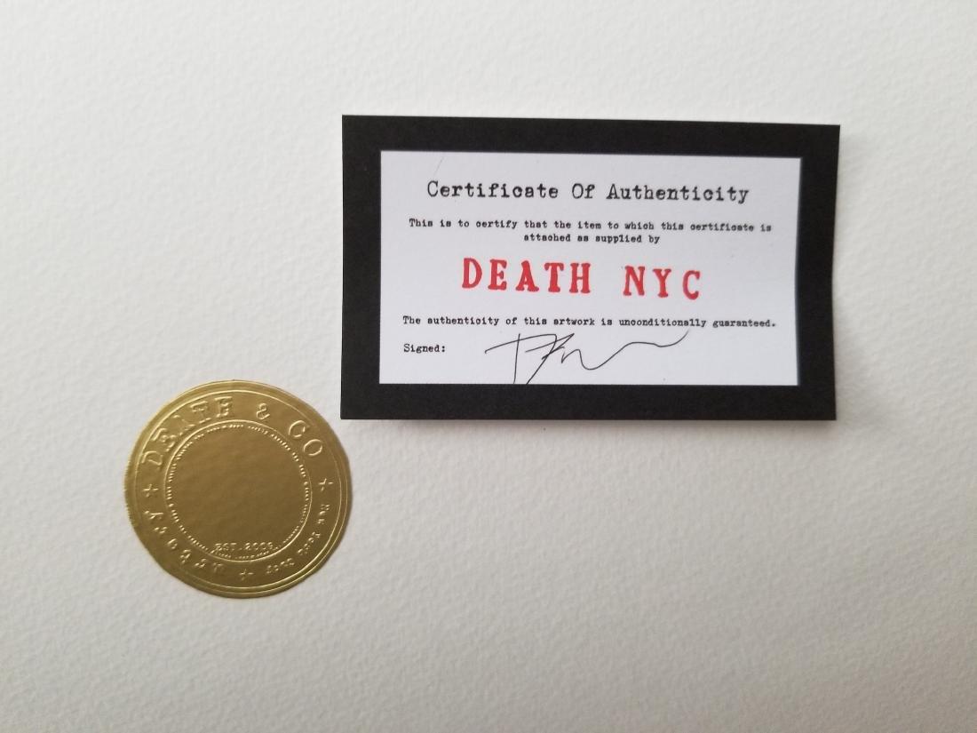 """Death NYC Signed Graffiti Pop Art Print """"Basketball Y G - 3"""