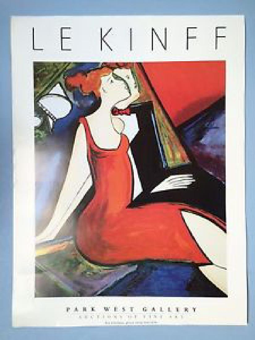 Le Kinff  Vintage Gallery Advertising Poster