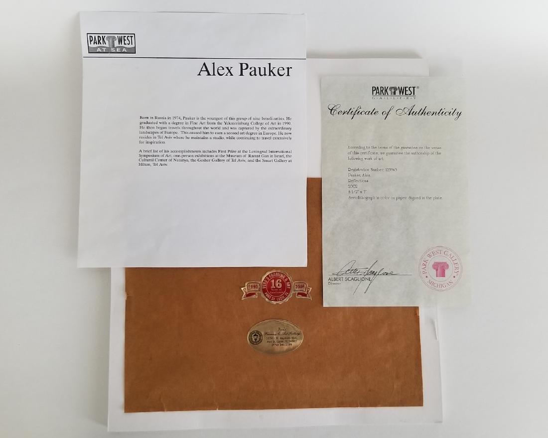 Alex Pauker Original Art COA Park West Gallery - 4