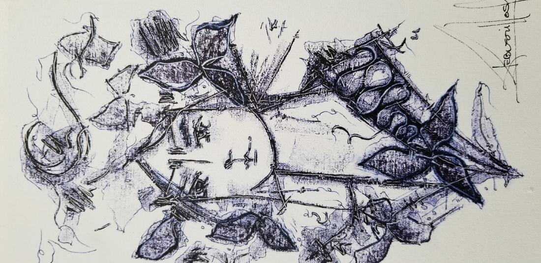 Original Signed Artwok By The Cuban Artist Jose - 2
