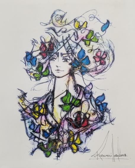 Original Signed Artwork By The Cuban Artist Jose