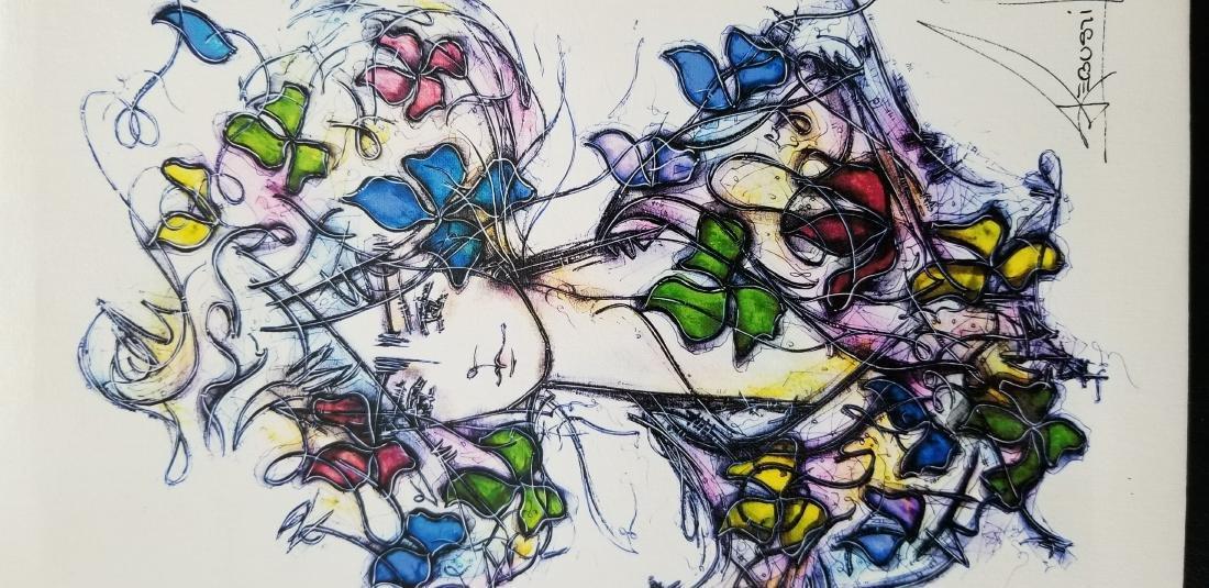 Original Signed Artwork By The Cuban Artist Jose - 2