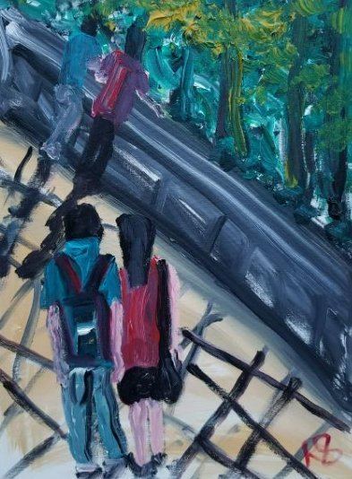 Original Acrylic painting on Canvas. Artist Working NYC