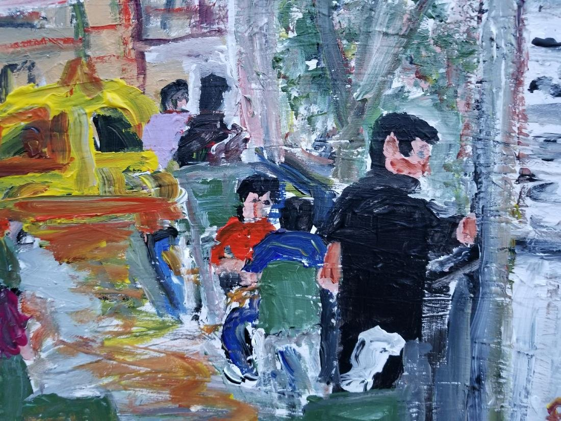 Original Acrylic painting on Canvas. Artist Working NYC - 2