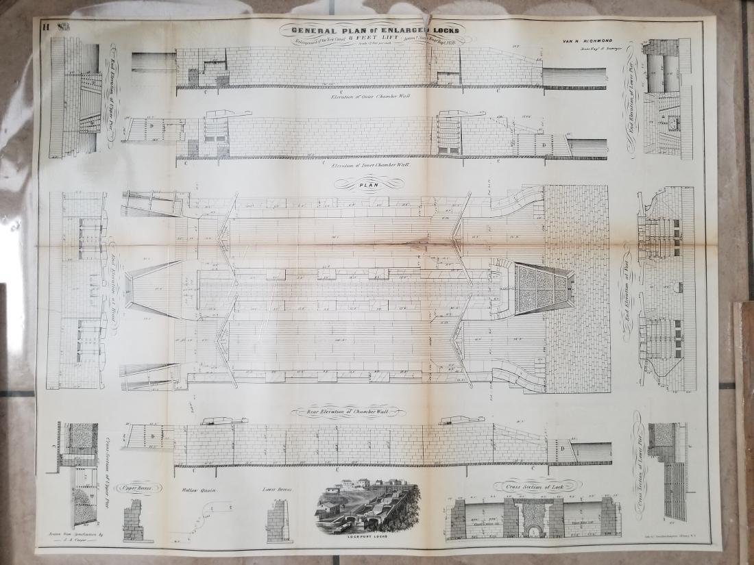 1860 Plan H-General Plan Of Enlarged Double Locks