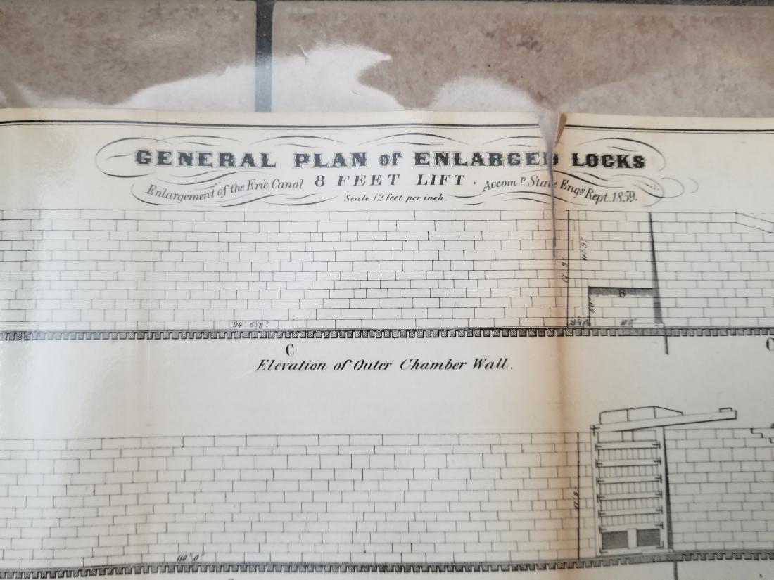 1860 Plan H-General Plan Of Enlarged Double Locks - 2