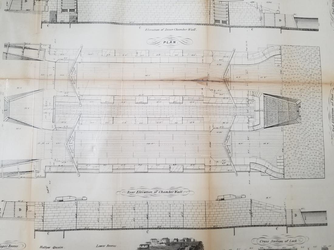1860 Plan H-General Plan Of Enlarged Double Locks - 3