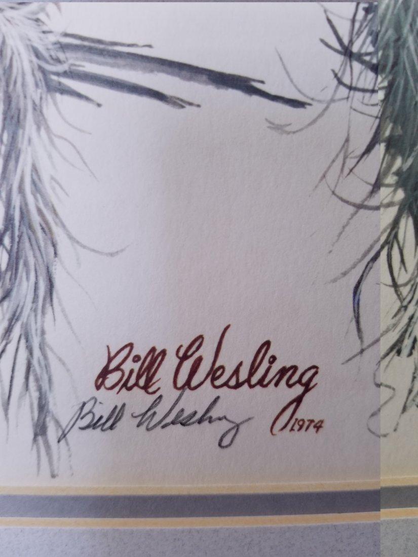 Bill Wesling 1974 Original Print - 2