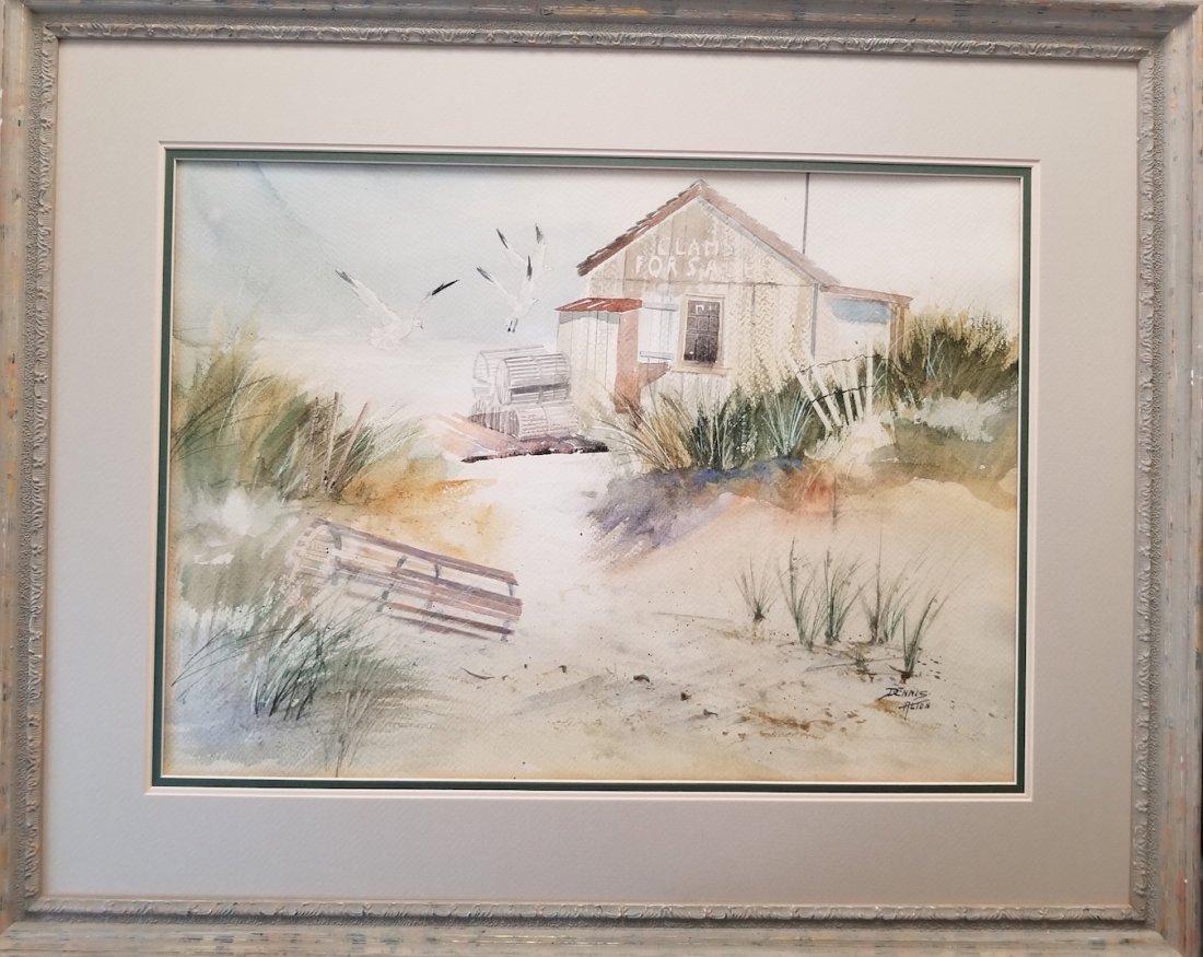 Dennis Alton Signed Vintage Watercolor