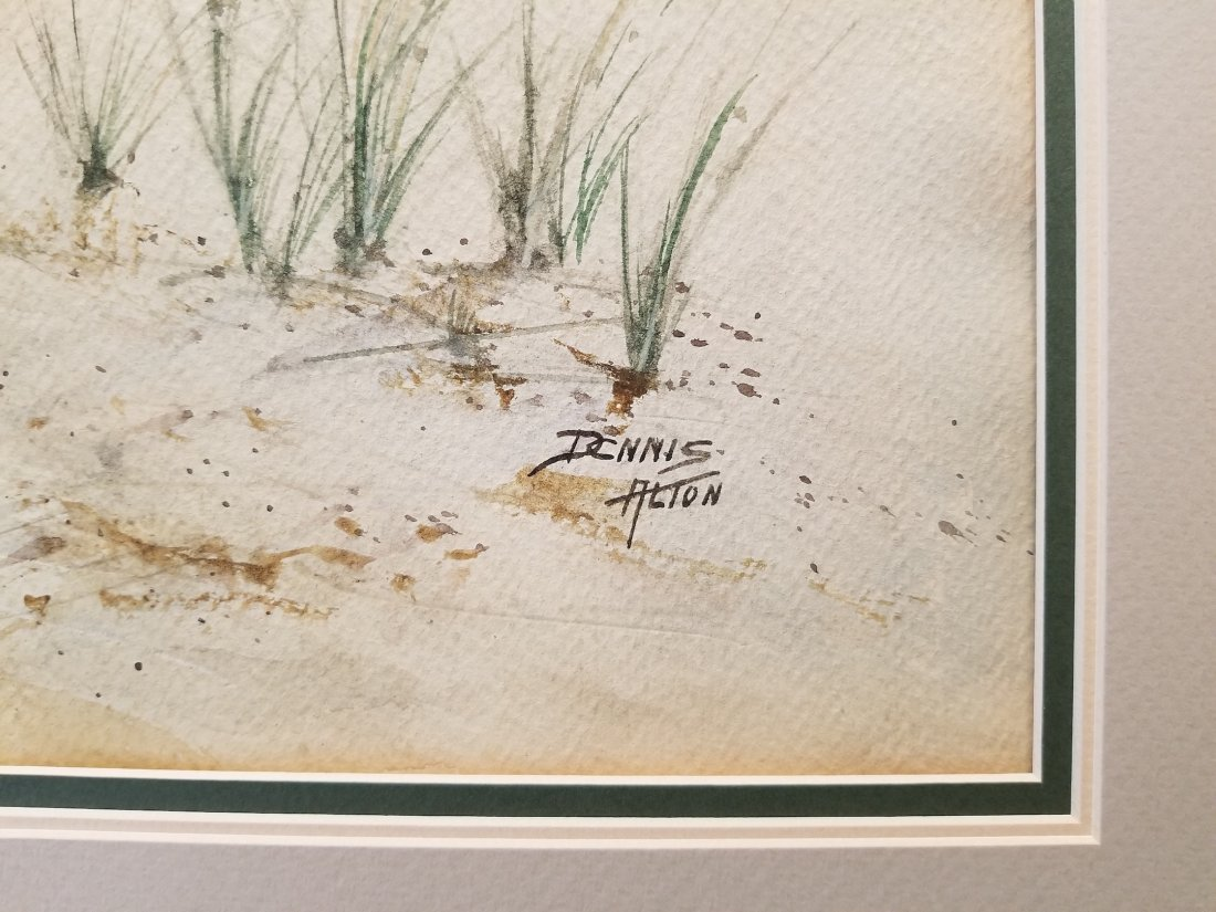 Dennis Alton Signed Vintage Watercolor - 2