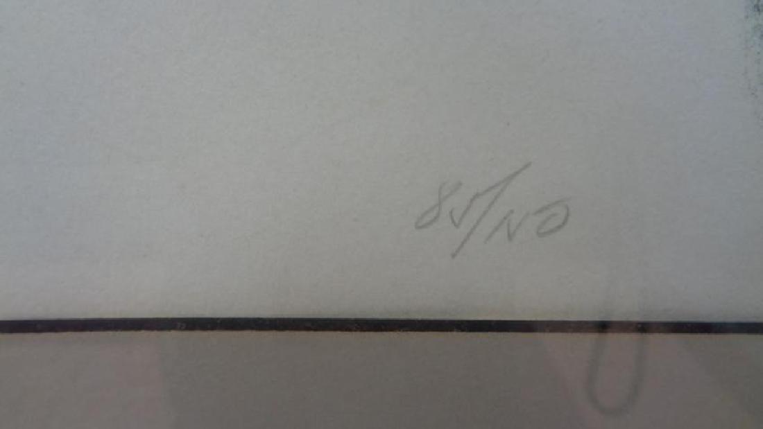 Original Vintage lithograph Signed S. Litterman 85/150 - 3