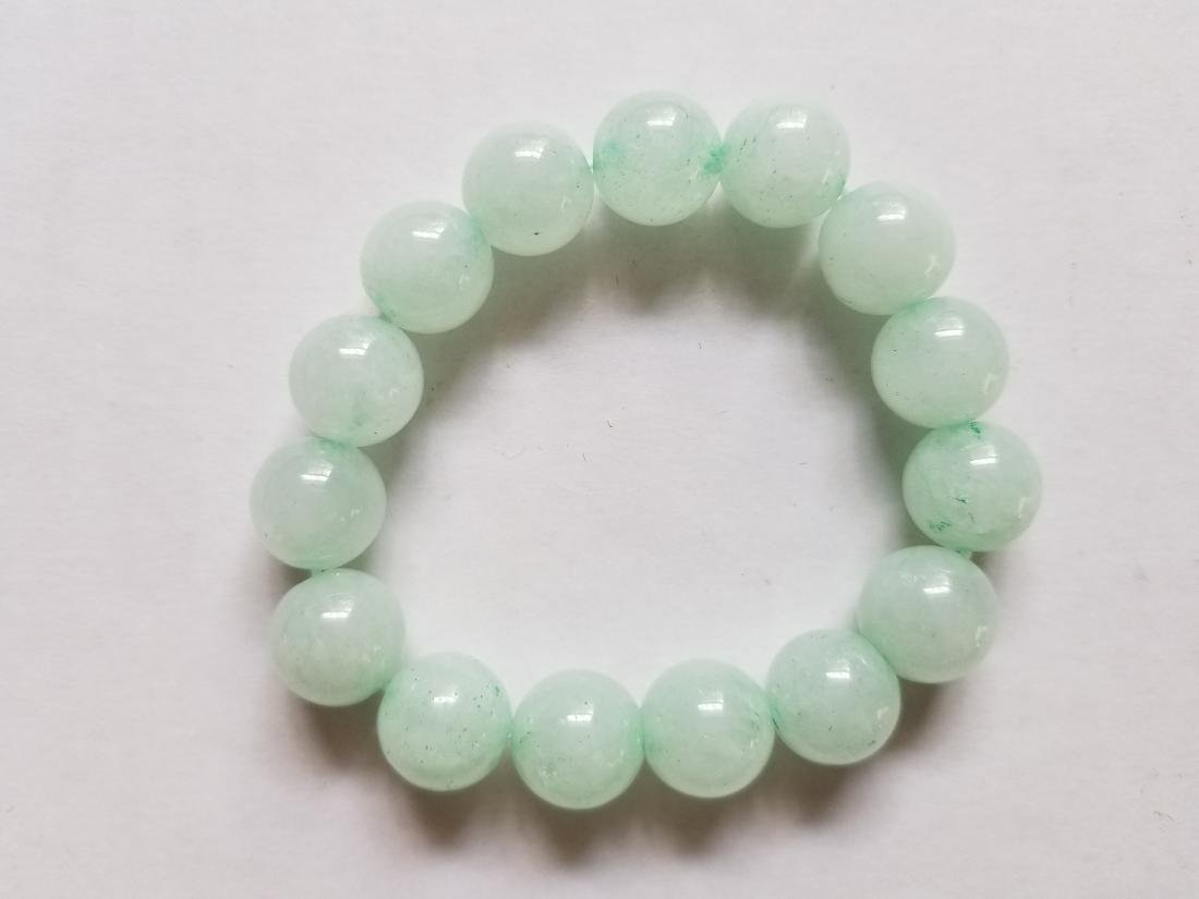 Jade (Green jadeite) 12mm Round Bead Bracelet