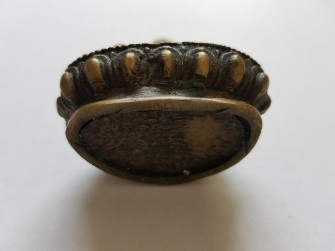 Old Tibet Buddhist Bronze Sakyamuni Shakyamuni Hold pot - 3