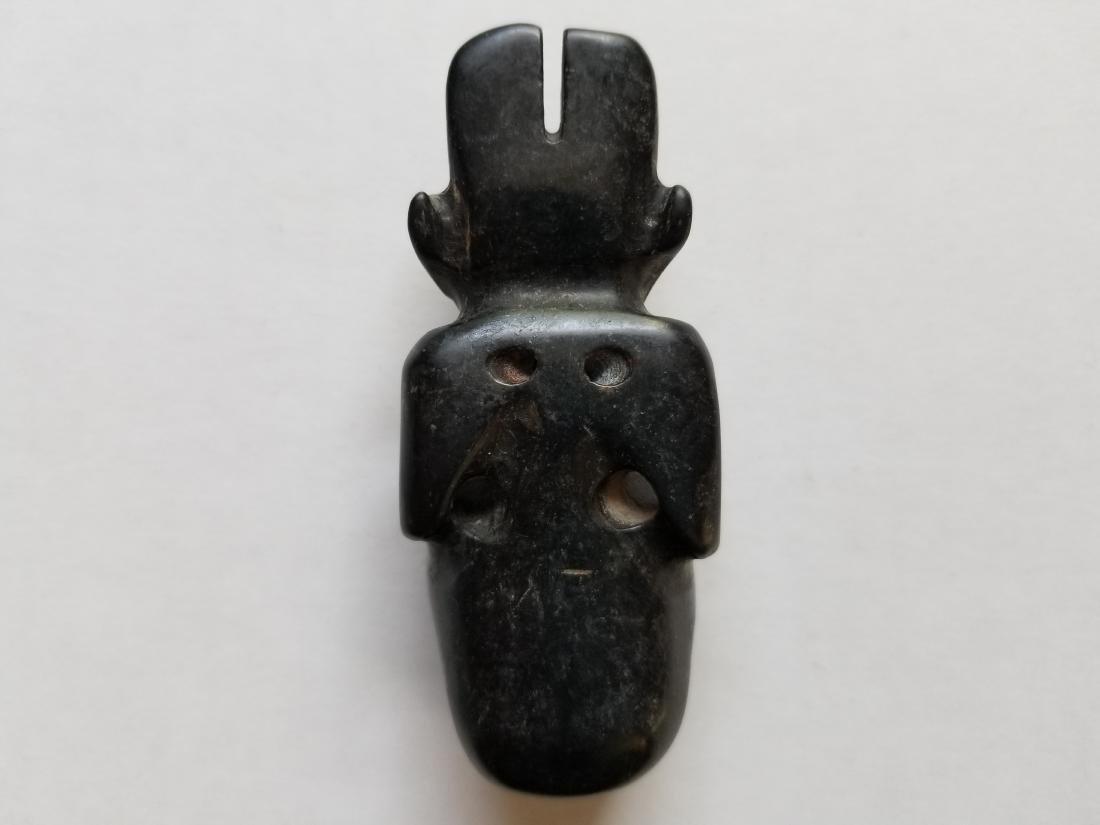Chinese Hongshan Culture Magnet Jade Carved Sun god - 2