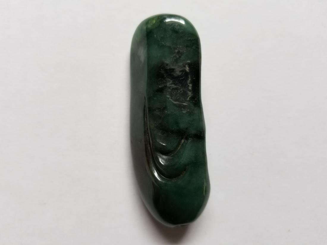 Chinese Exquisite Hand-carved old man carving Jadeite - 2