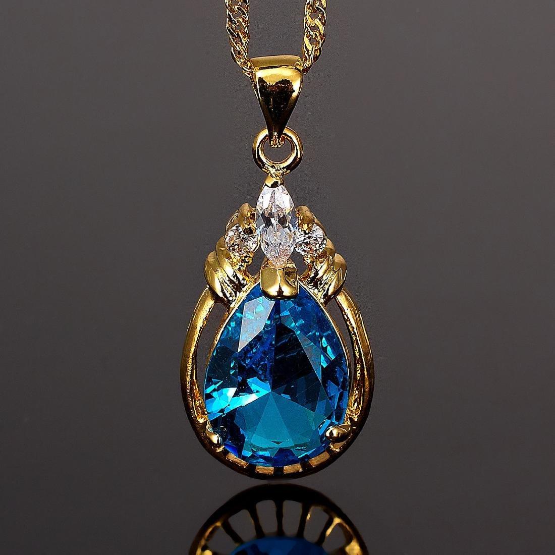 Women Jewelry 18K Yellow GP Pendant-Necklace