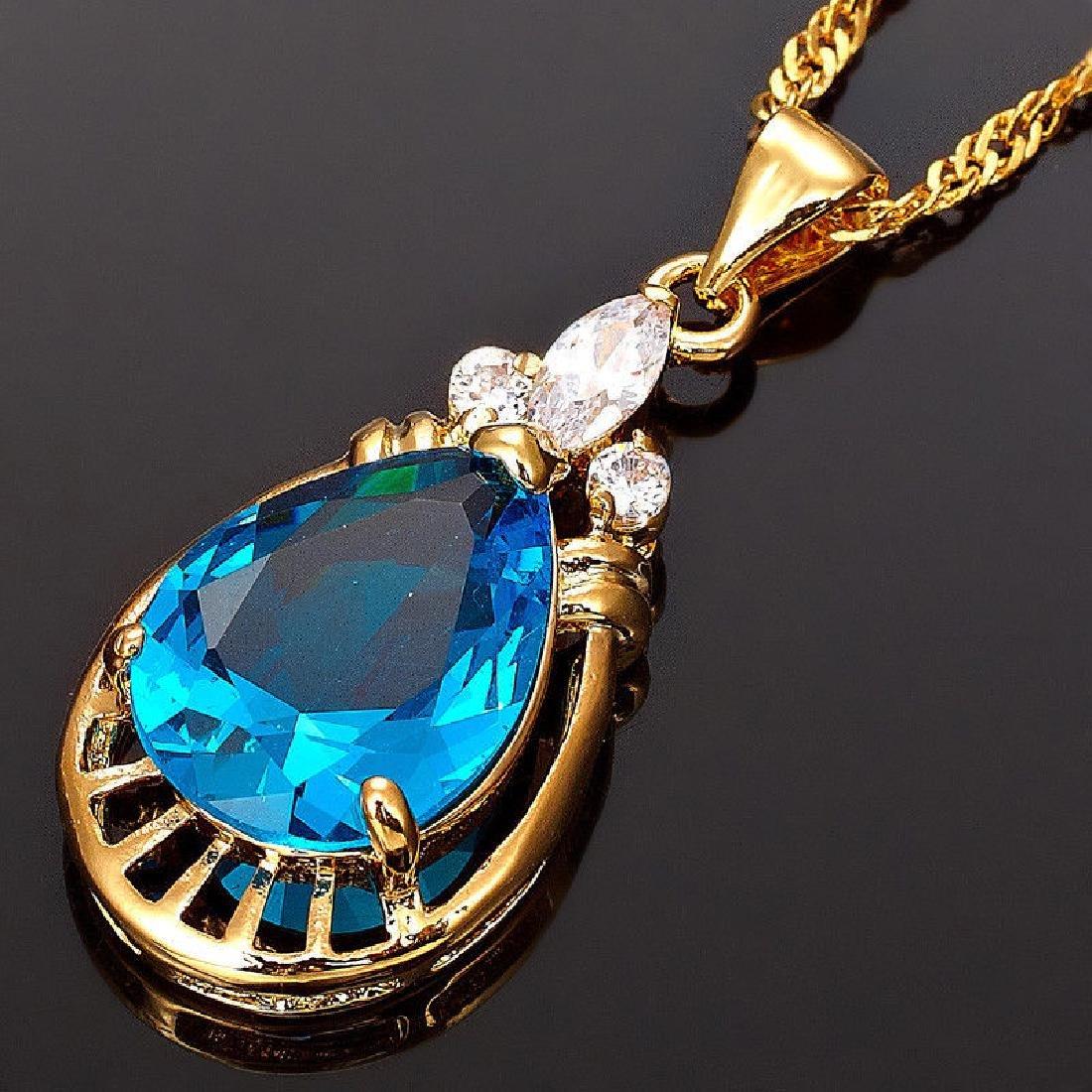 Women Jewelry 18K Yellow GP Pendant-Necklace - 2