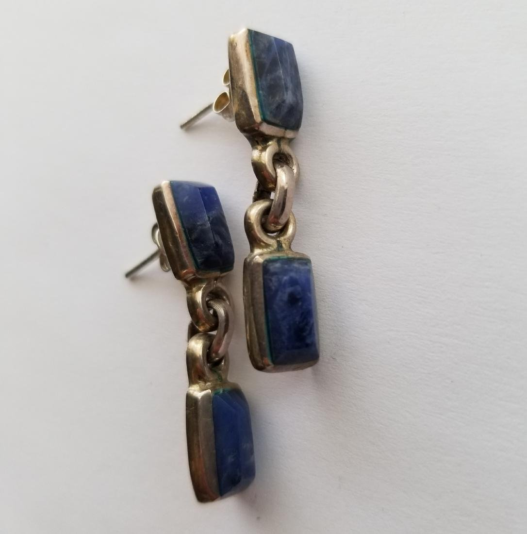 925 silver vintage earrings with gemstone