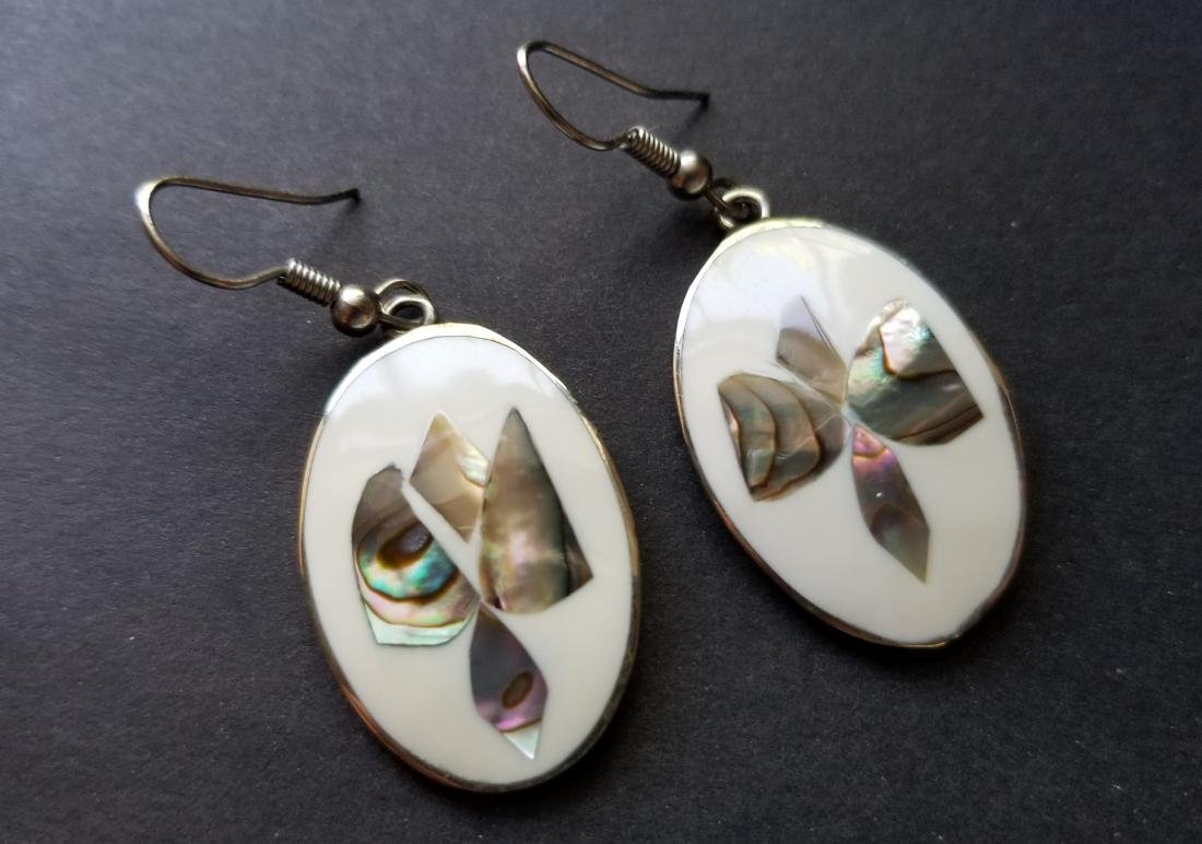 Vintage Alpaca Mexico Earrings