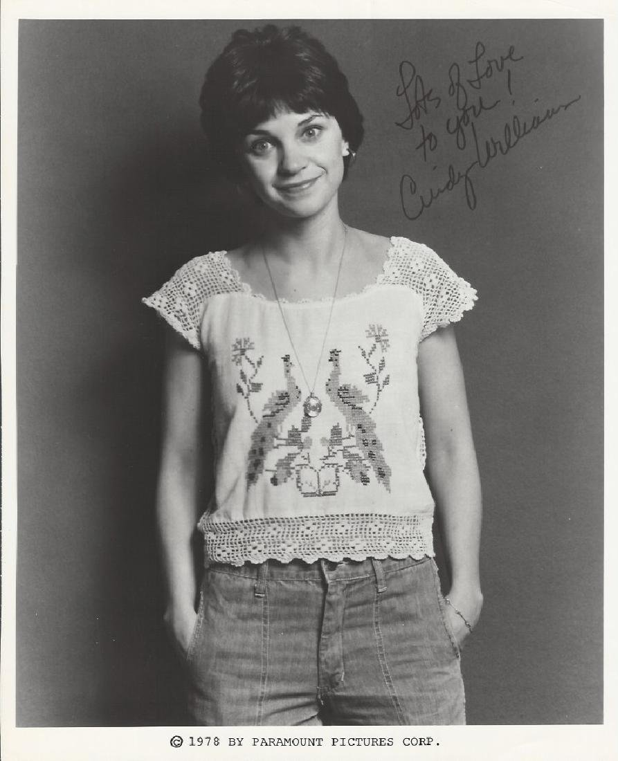 Cindy Williams autograph vintage picture