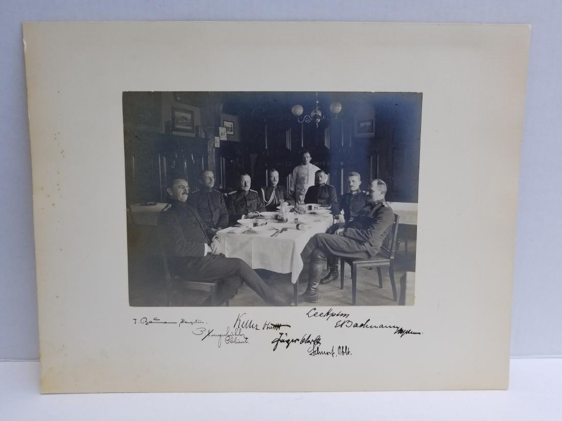 Original 1915 Photograph of Military. Signed