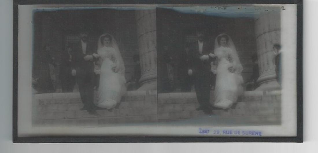 Vintage Magic Lantern Glass Photo Slide