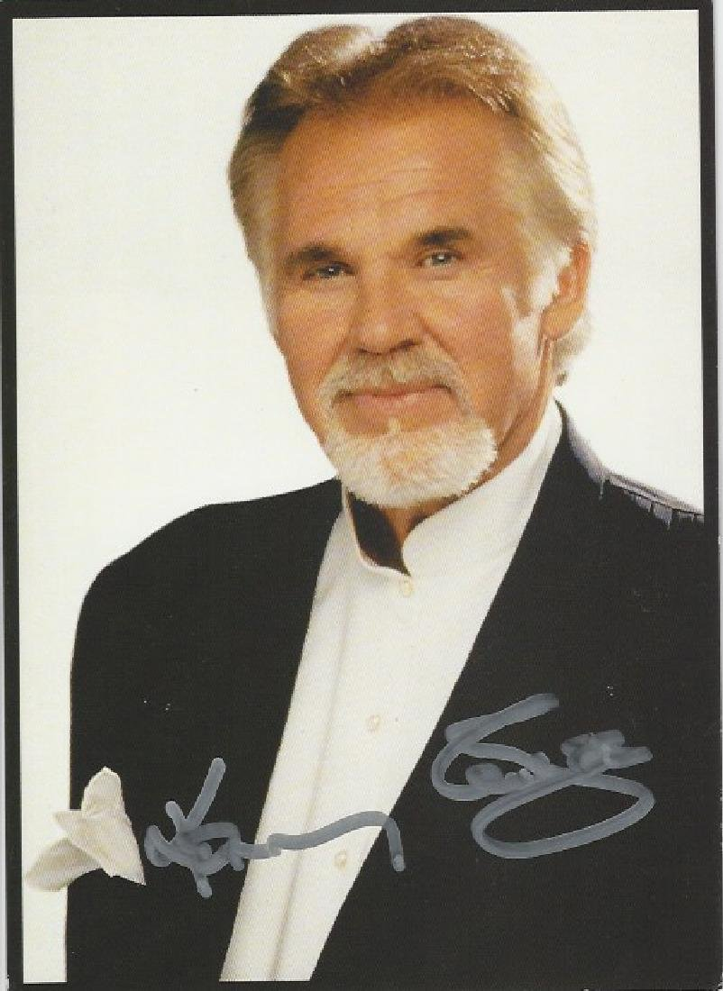 Kenneth Ray Rogers  autograph picture
