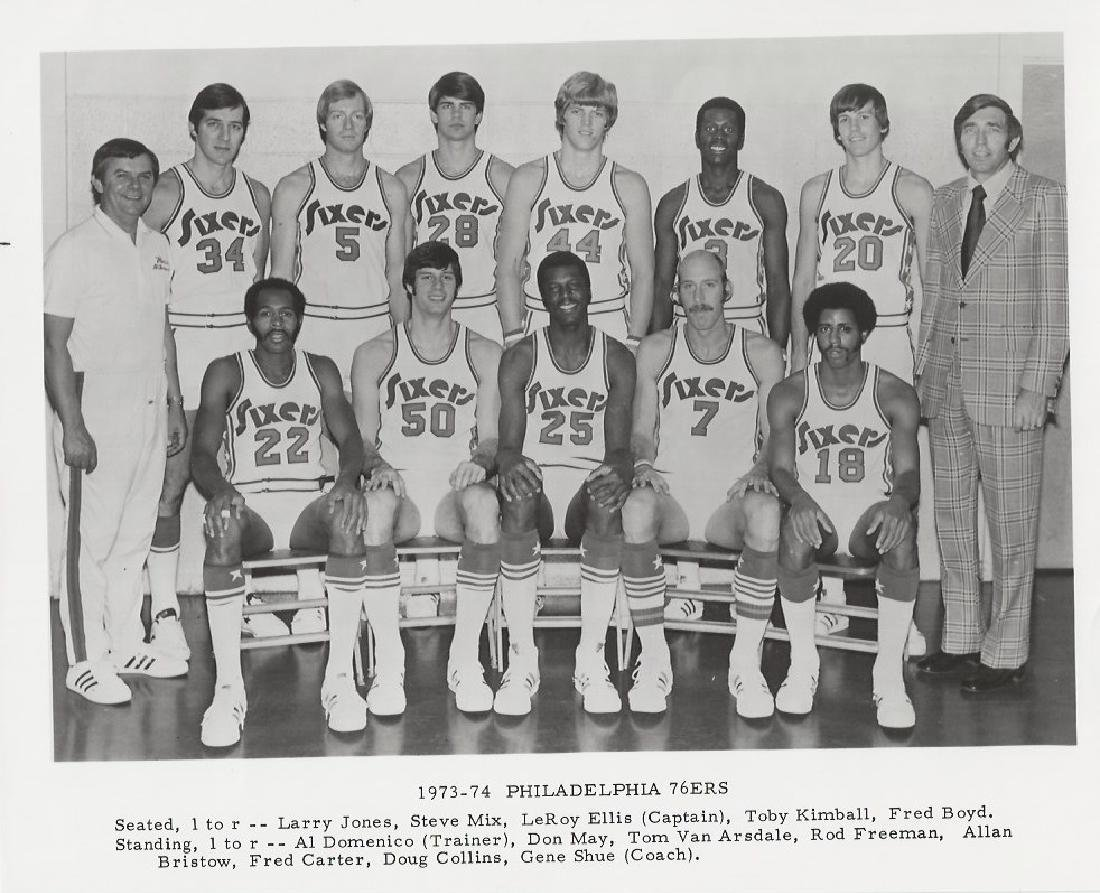 Vintage 1973-74 Philadelphia 76ers photo