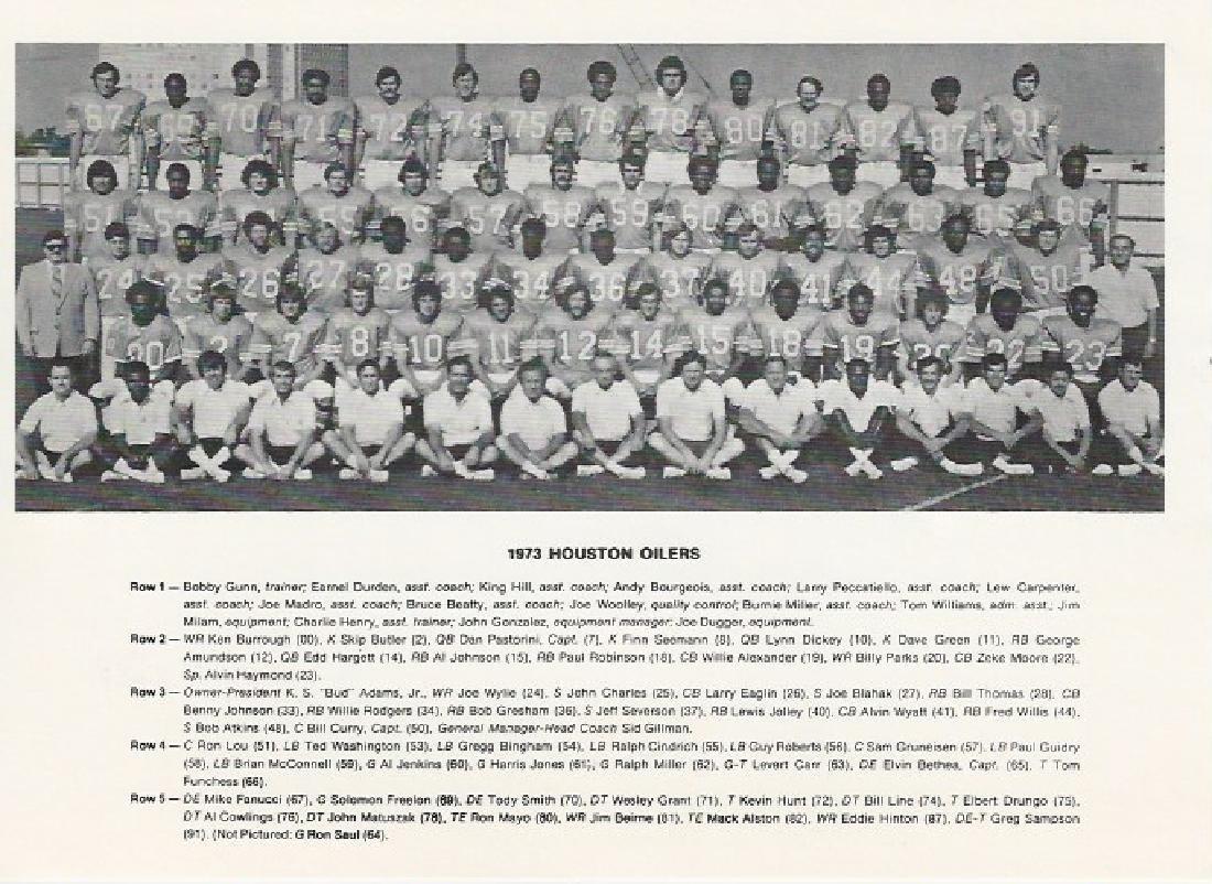 1973 Houston Oilers Team