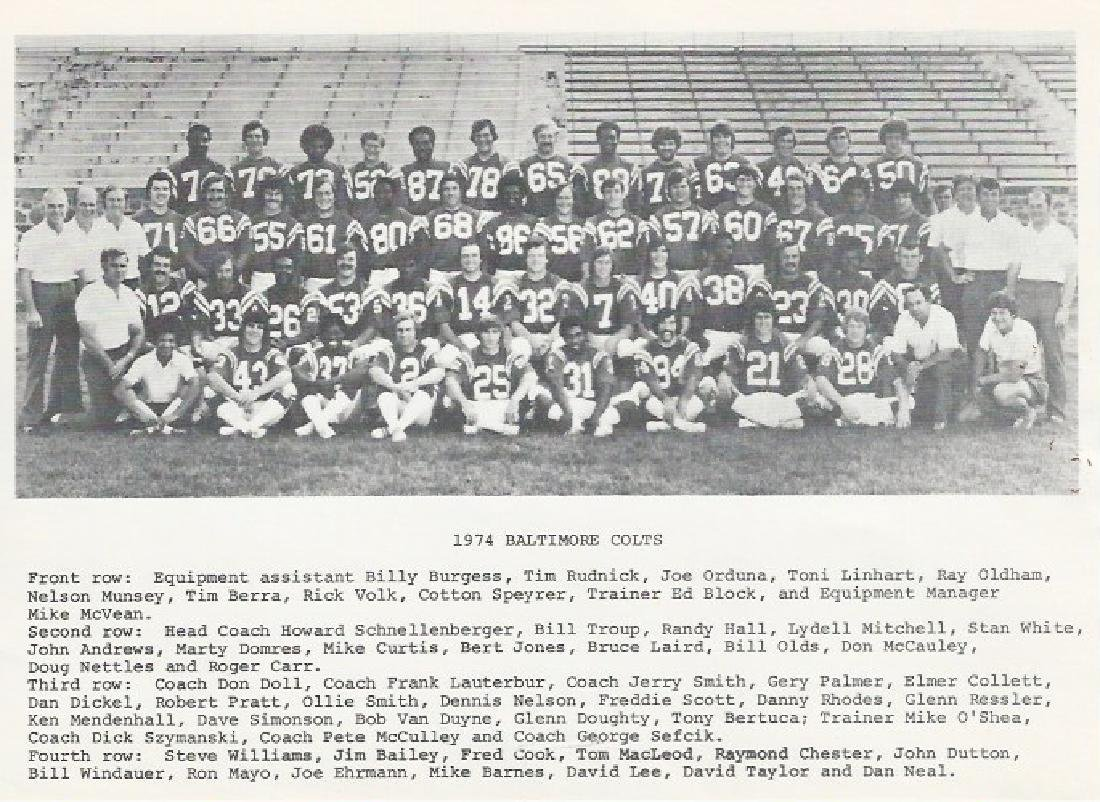 1974 Baltimore Colts Team