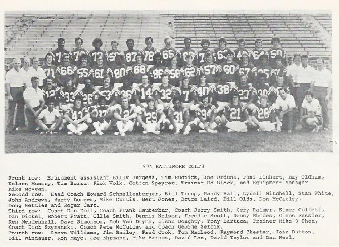1974 Baltimore Colts Team
