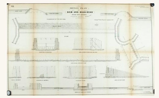 1860 Plan G - Detail Plan of Dam and Bulk Head - Van R
