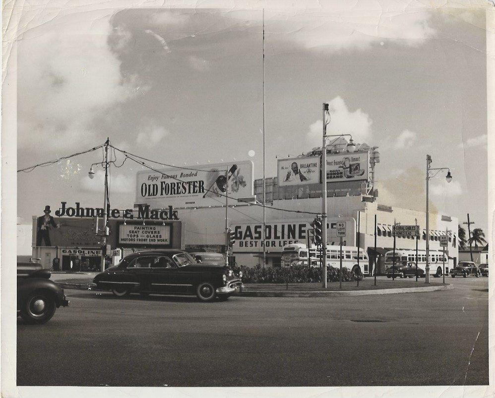 Original Vintage Photo Miami 50's