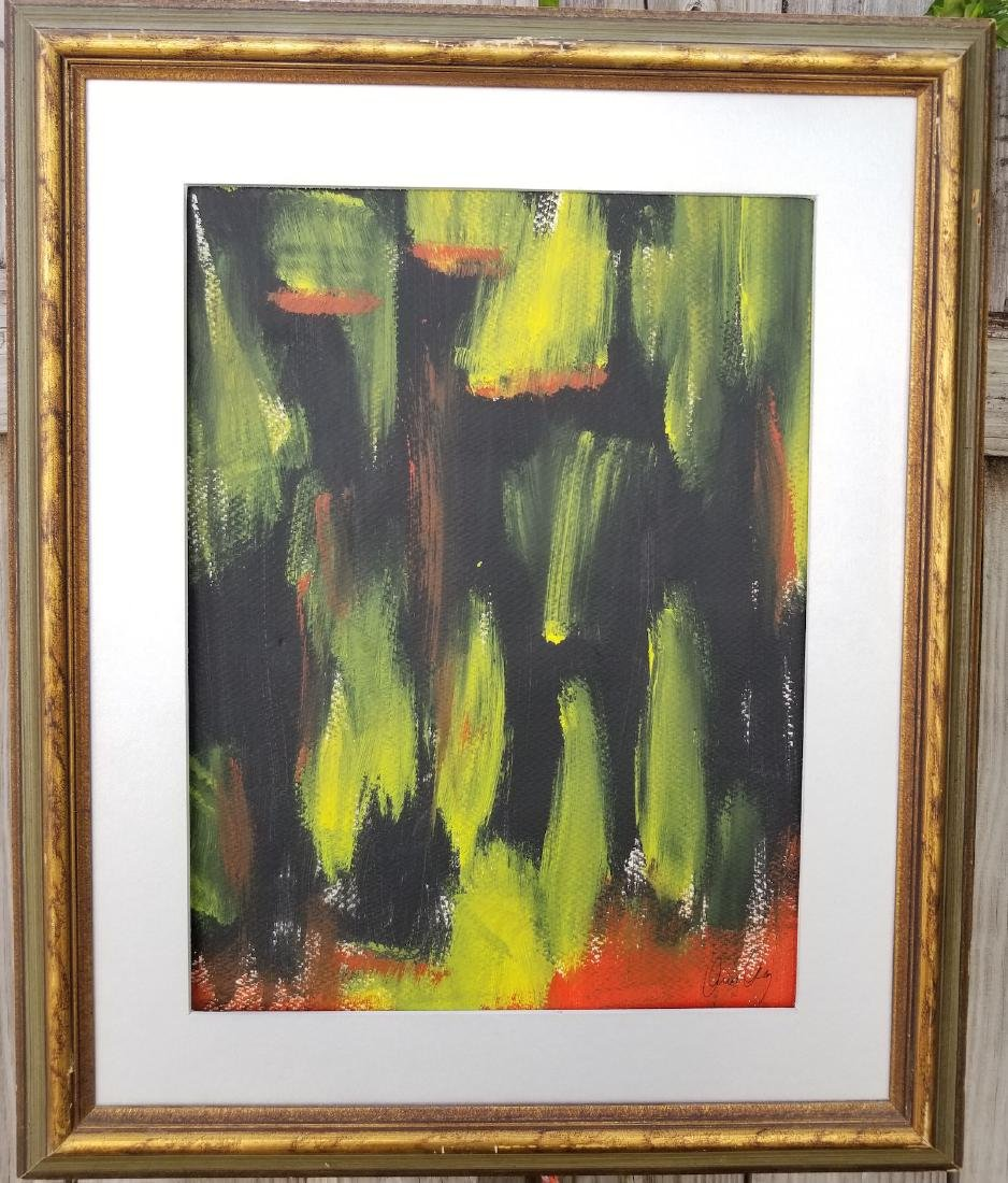 Original Abstract Contemporary Painting New York Signed
