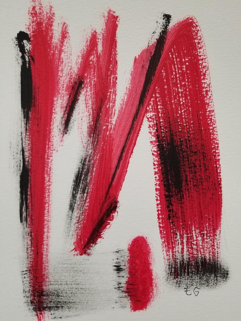 Abstract Painting On Paper. Signed