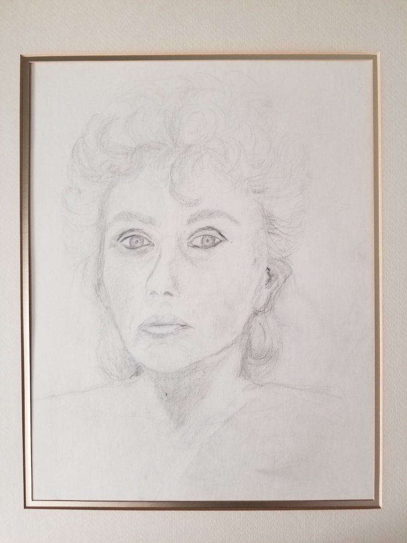 Vintage Pencil Drawing Signed Picasso.