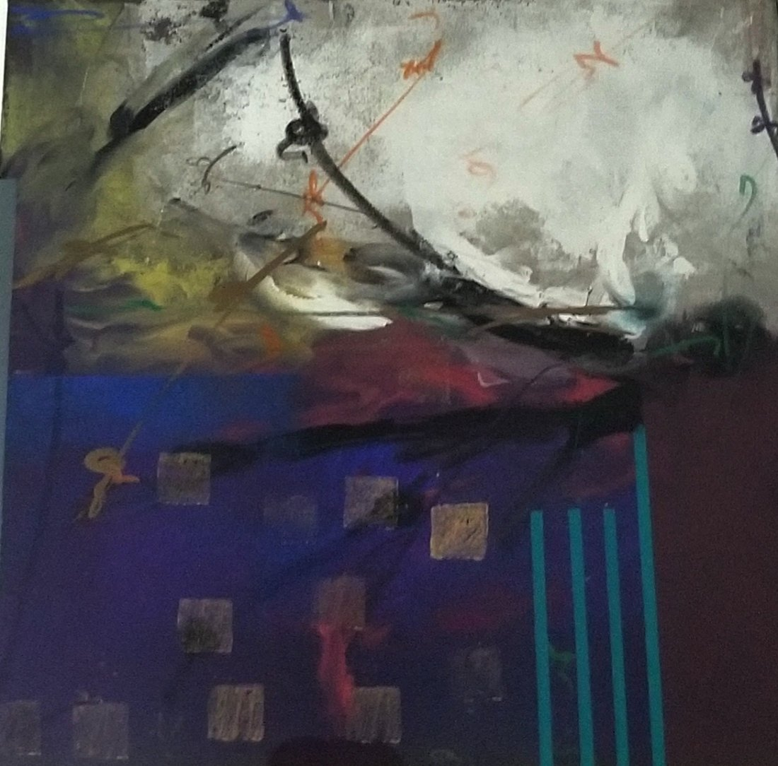 Original Abstract Painting. Henry Miller