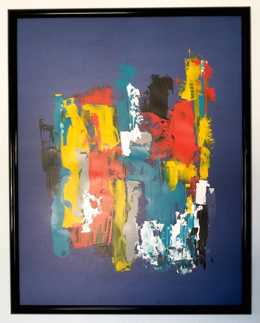 Original New York Gallery Modern Abstract Painting