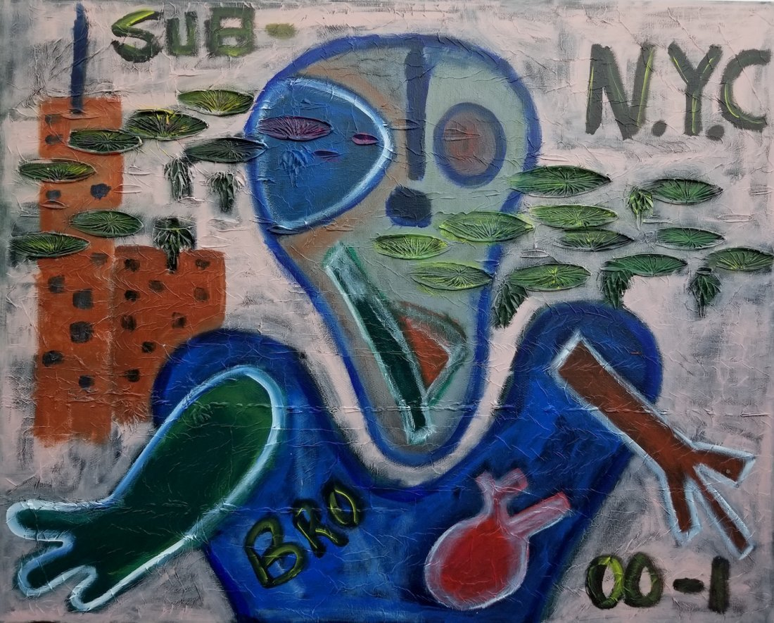 New York Abstract Painting Signed