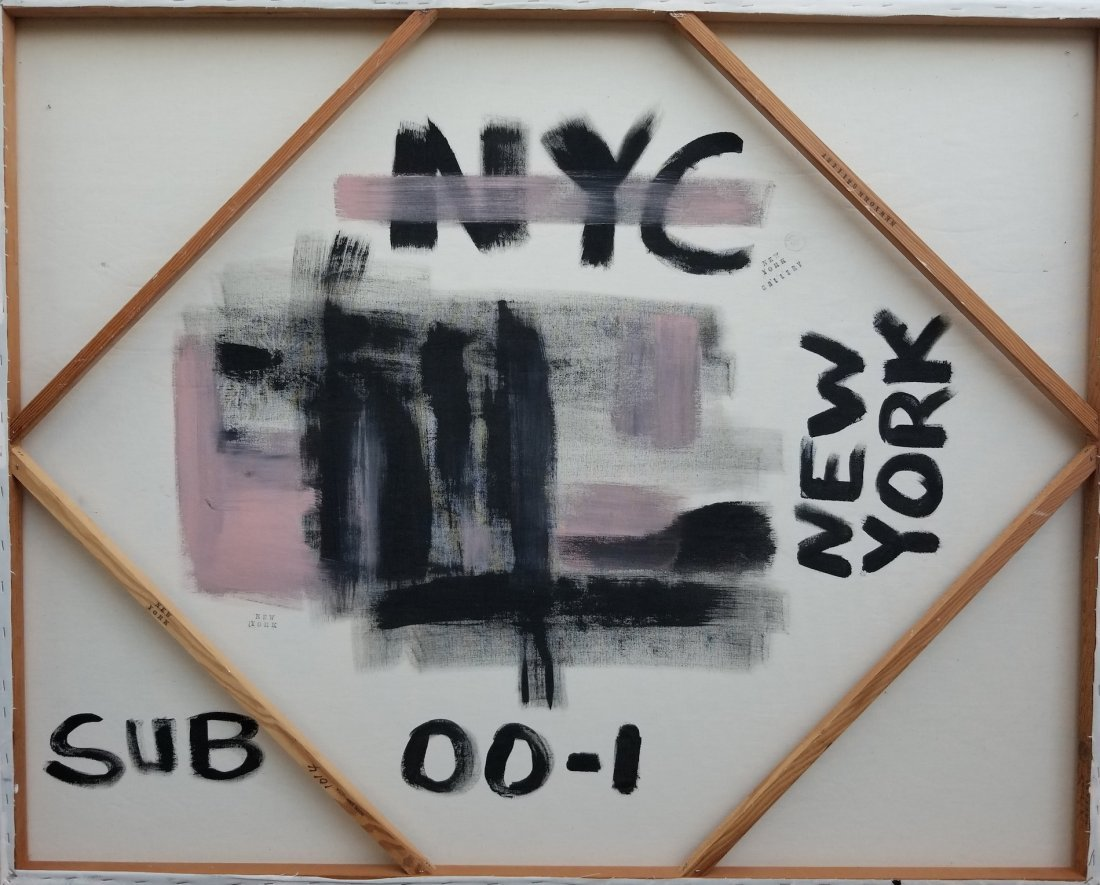 New York Abstract Painting Signed - 2