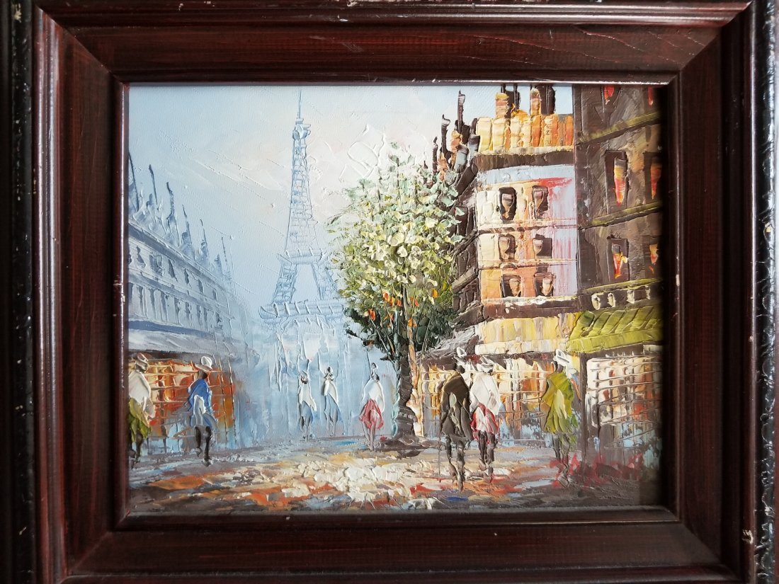 Original Tower Eiffel Acrylic Painting