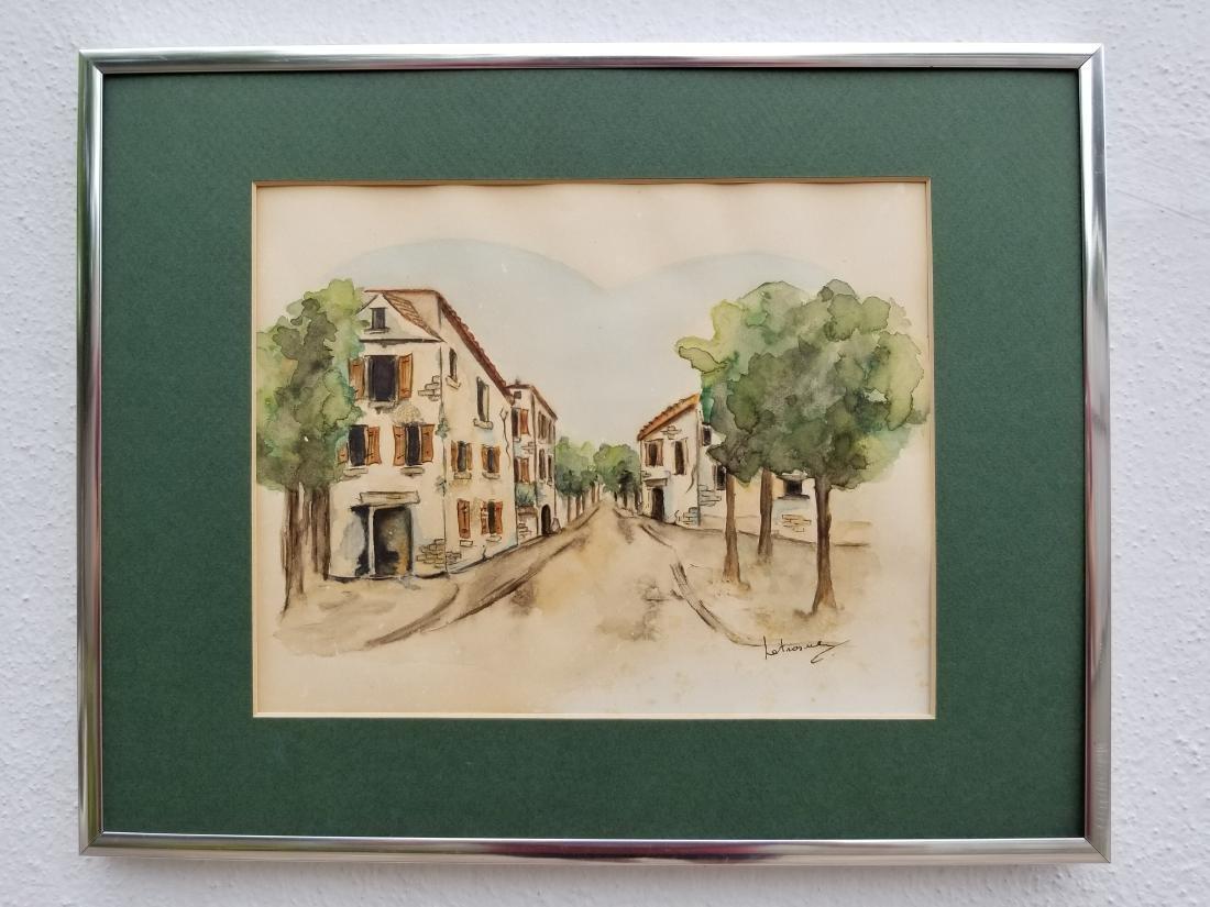 Original Watercolor Painting Signed Paris