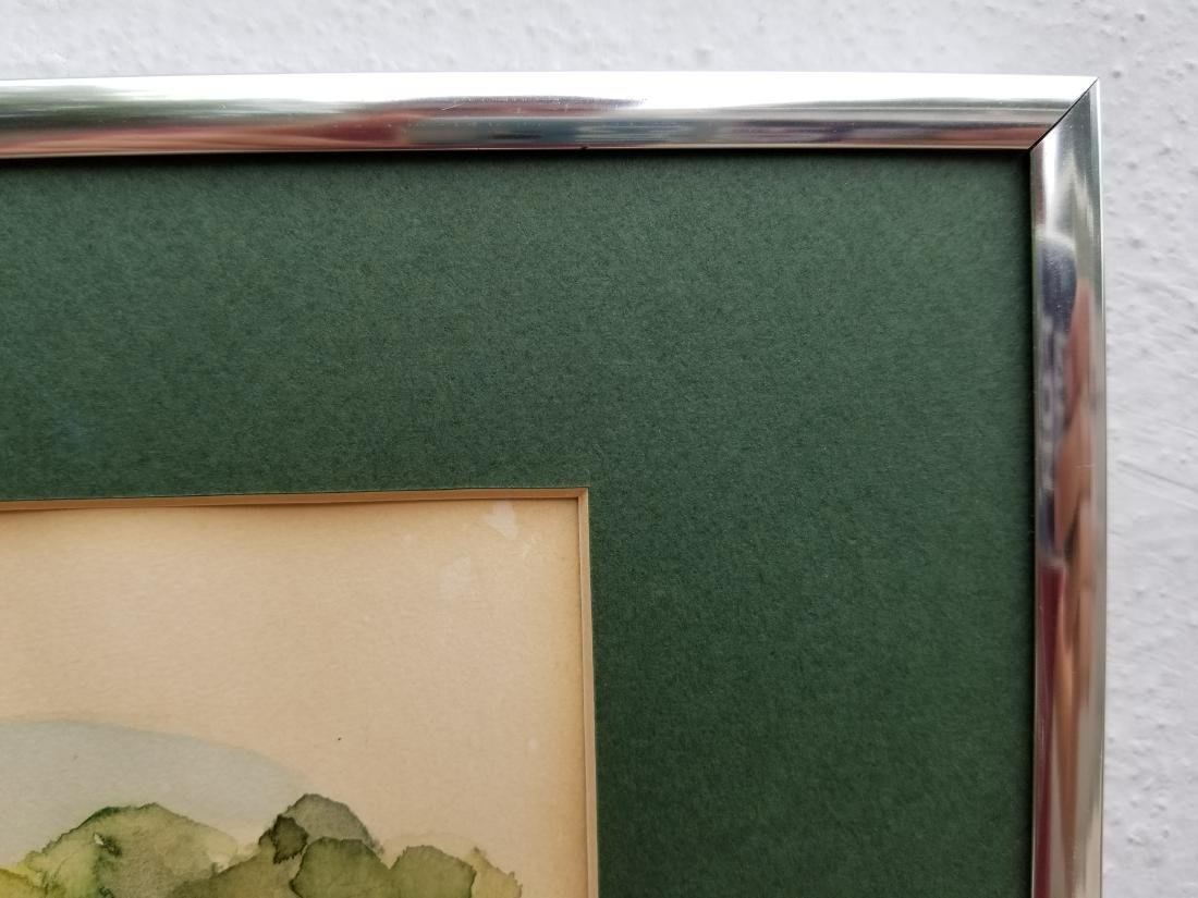 Original Watercolor Painting Signed Paris - 6