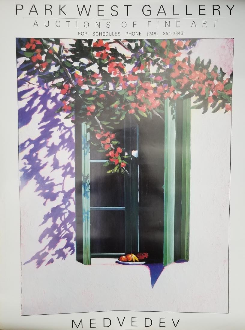 Medvedev Vintage Gallery Advertising Poster